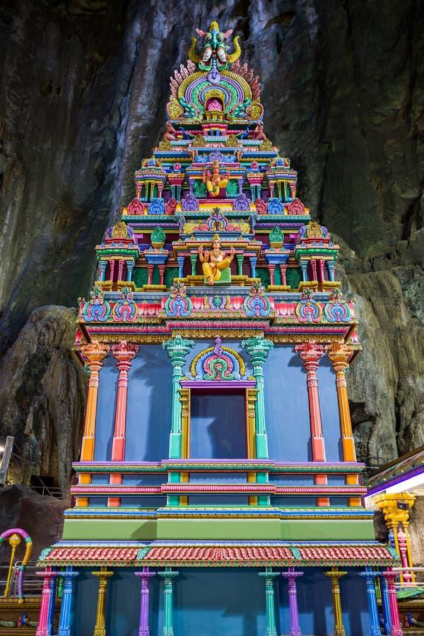 Tempel an Batu-Höhlen in Kuala Lumpur stockfotografie