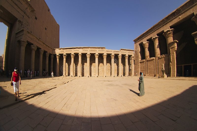 Tempel bei Edfu stockfoto