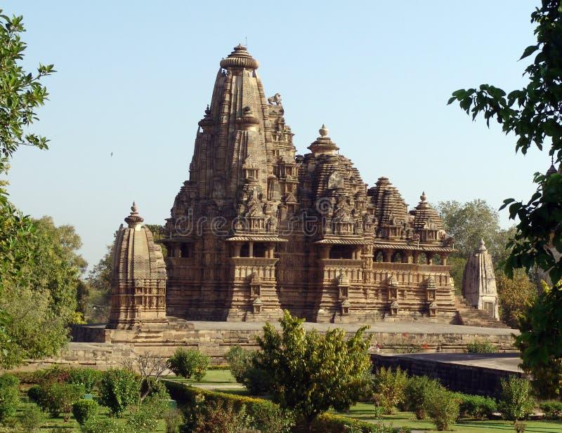 Tempel bei Khajuraho, Indien lizenzfreies stockfoto