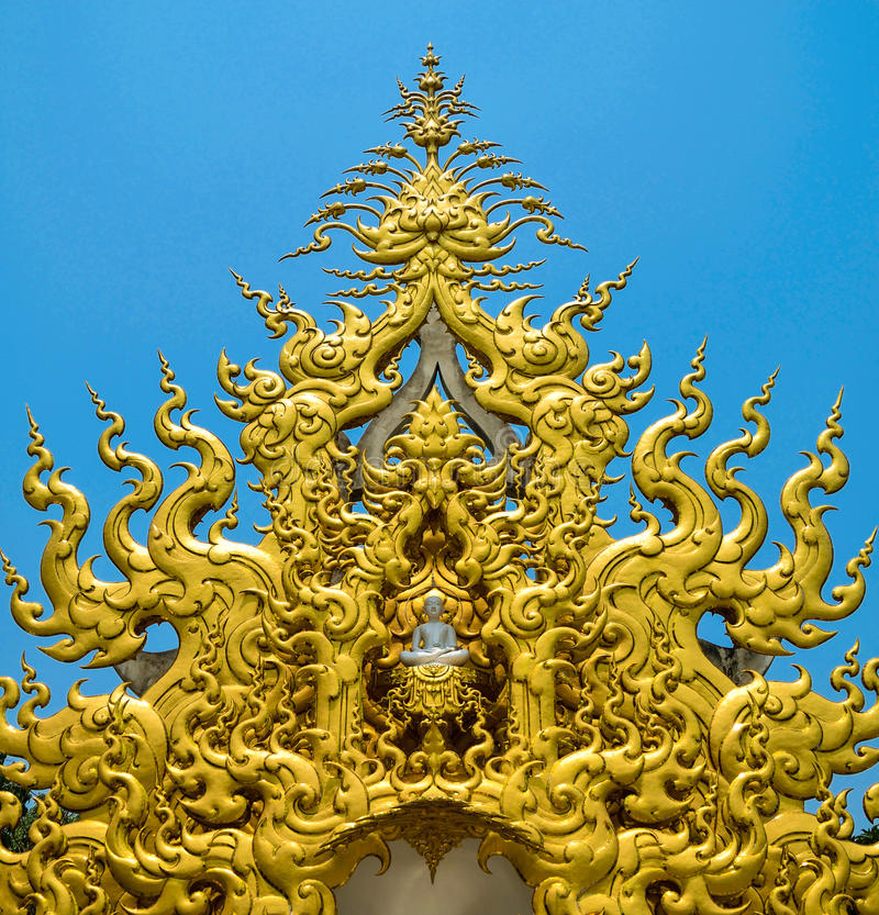 Tempel Chaingrai Thailand Rong Khun lizenzfreie stockfotografie