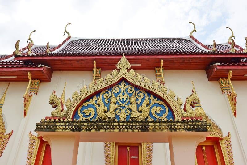Tempel in Chanthaburi, Thailand, een gebouw toegewijd die aan de verering, of als woningsplaats, of andere voorwerpen van religio stock afbeelding