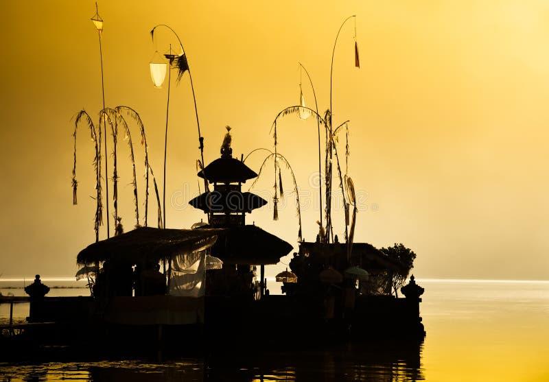 Tempel in Dawn royalty-vrije stock foto