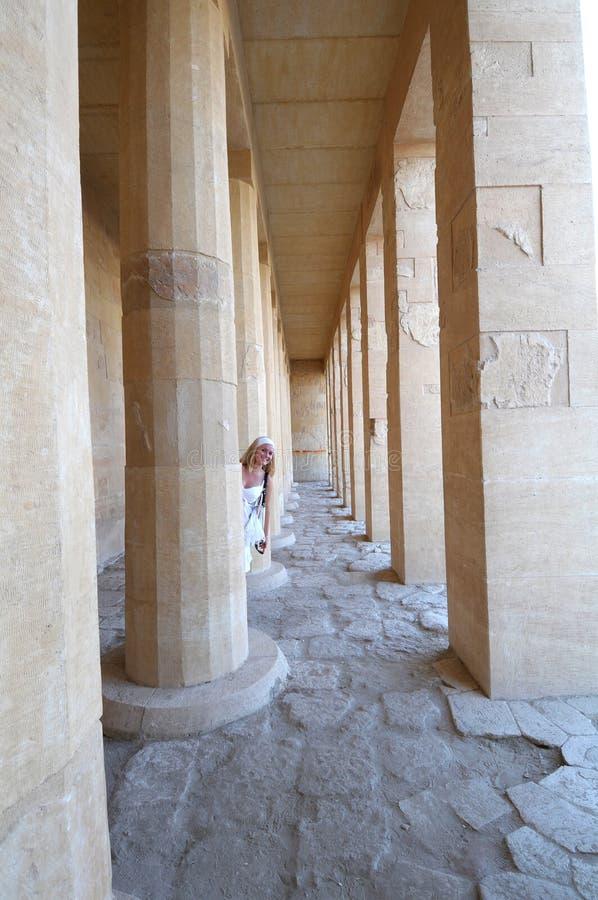 Tempel Deir EL-Bahari stockfotos