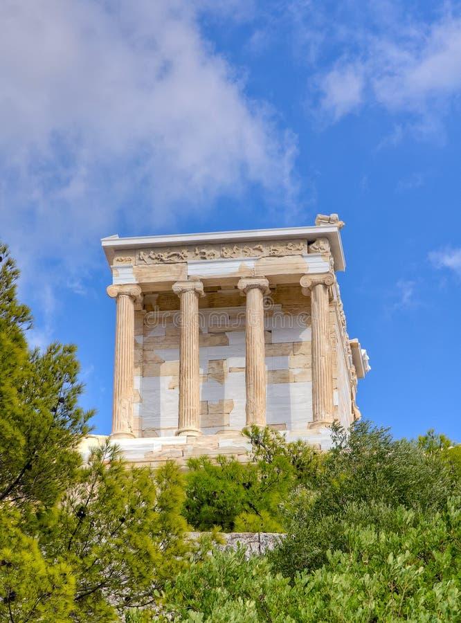 Tempel der Athene-Nike, Akropolis, Athen, Griechenland lizenzfreie stockfotos