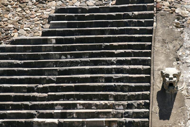 ?Tempel der auf Segelstellung gefahrenen Schlange?, Teotihuacan lizenzfreie stockbilder