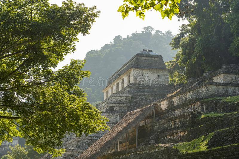 Tempel der Aufschriften Palenque lizenzfreies stockfoto
