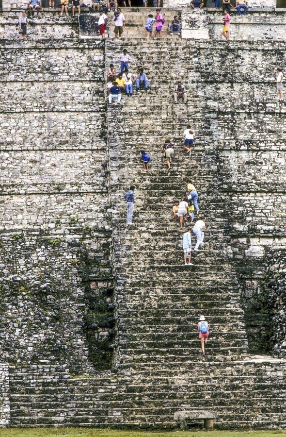 Tempel der Aufschriften in Palenque stockfotos
