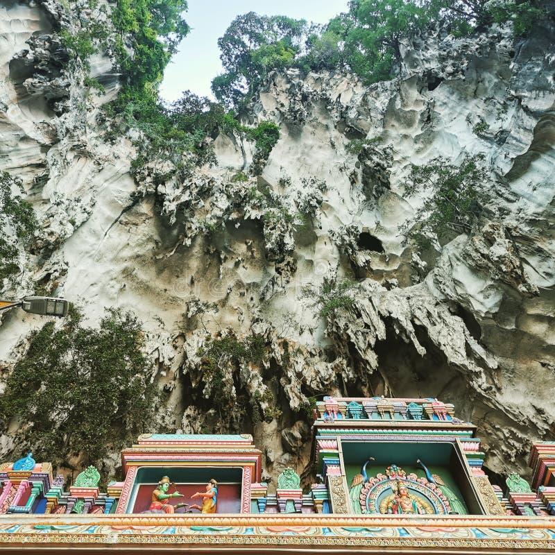 Tempel der Höhlen von Batu stockfotos