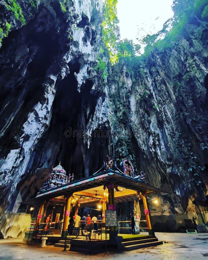 Tempel der Höhlen von Batu lizenzfreies stockbild