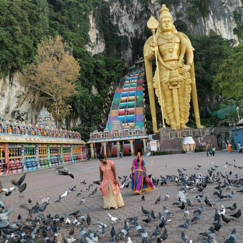 Tempel der Höhlen von Batu lizenzfreie stockbilder