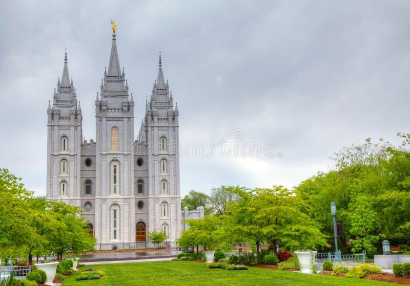 Tempel der Mormonen in Salt Lake City, UT lizenzfreie stockfotos
