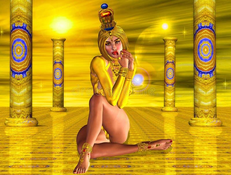 Tempel der Sun-Göttin lizenzfreie abbildung