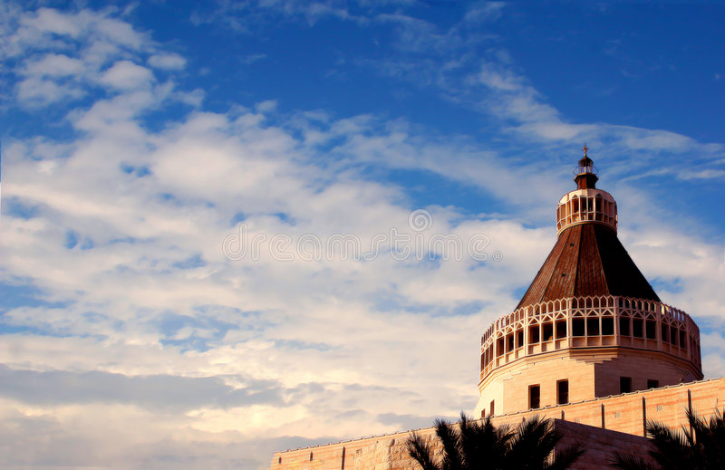 Tempel des Christ in Nazareth. lizenzfreie stockbilder