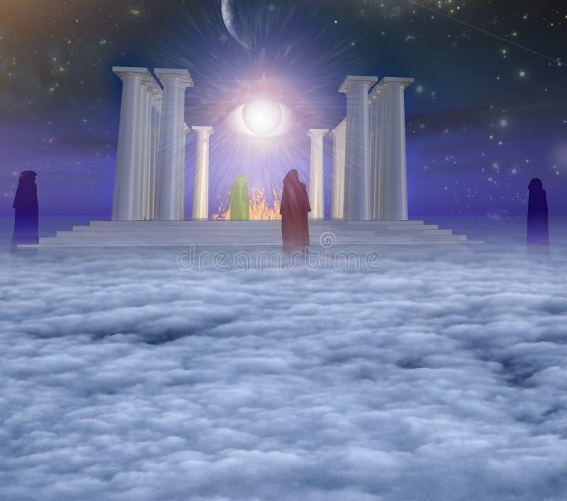 Tempel des Feuers stock abbildung