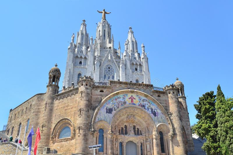 Tempel des heiligen Herzens in Barcelona stockbild