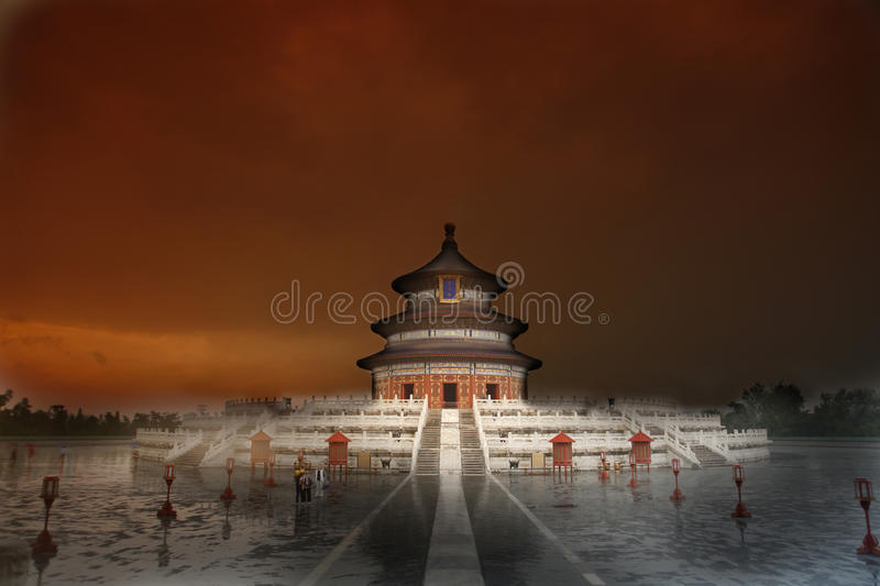 Tempel des Himmels, Peking, China stockbild
