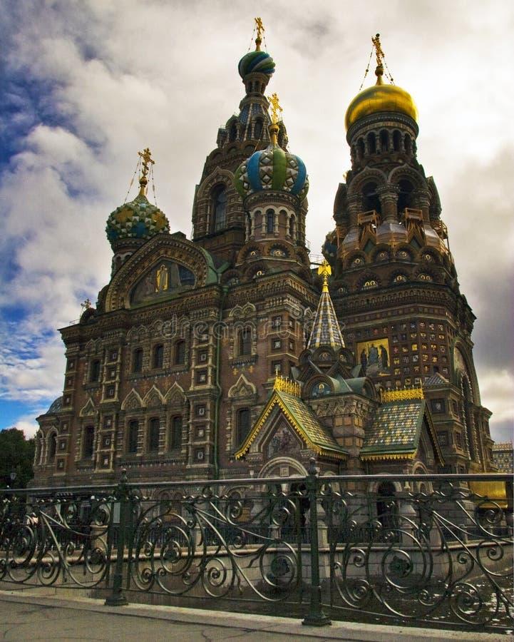 Tempel des Retters auf Blut in St Petersburg lizenzfreie stockfotografie