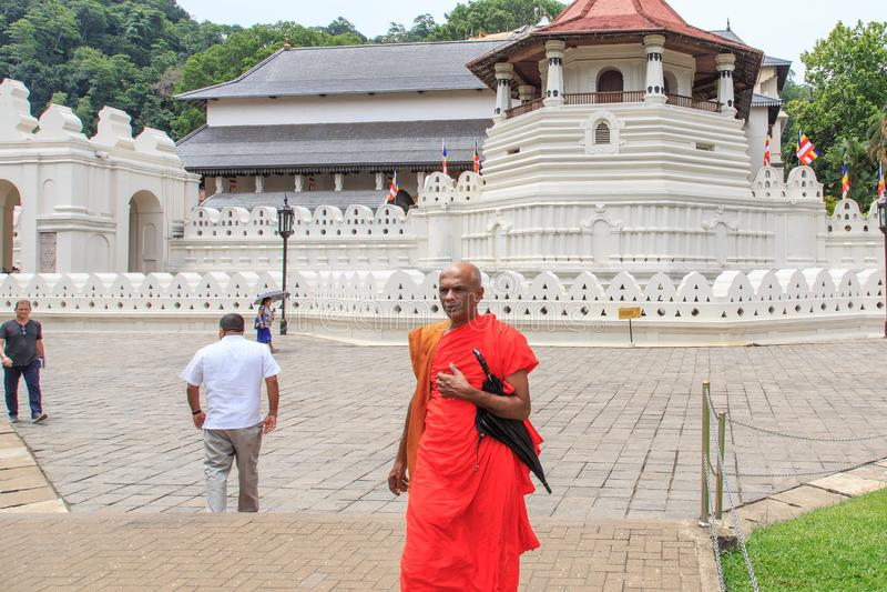 Tempel des Zahnes und des Royal Palaces - des Kandys, Sri Lanka lizenzfreies stockfoto