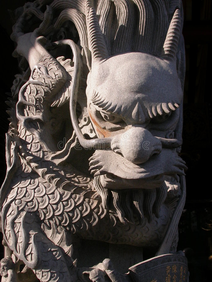 Tempel-Drache stockfotos