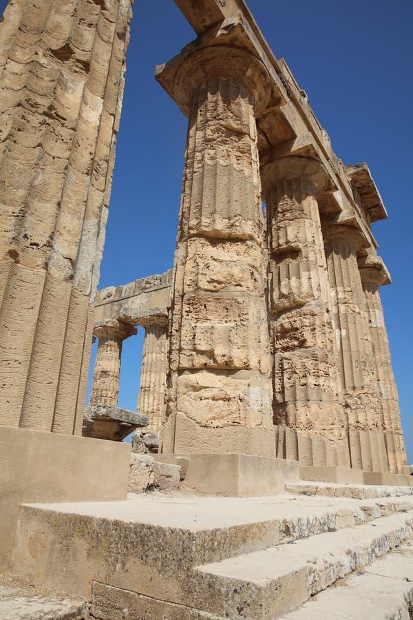 Tempel E på Selinunte royaltyfria foton