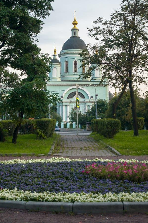 Tempel ehrwürdigen St. Sergius von Radonezh im Rogozhskaya Sloboda, Moskau, Russland lizenzfreies stockbild