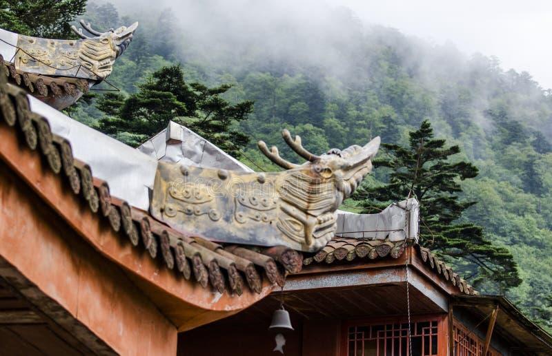 Tempel in emei Bergen von Sichuan stockfoto