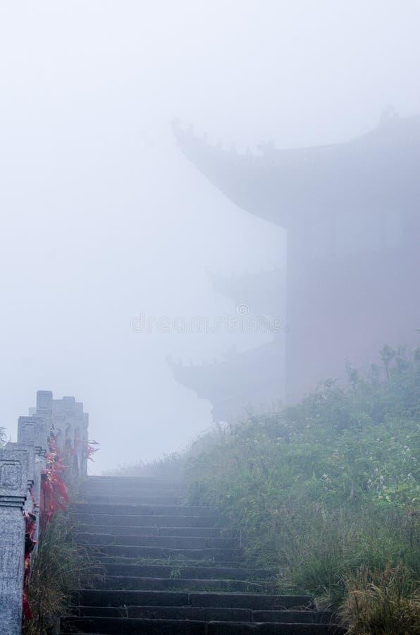 Tempel in emei Bergen von Sichuan lizenzfreie stockbilder