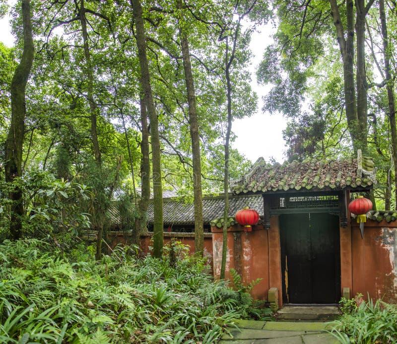 Tempel in emei Bergen von Sichuan stockfotografie