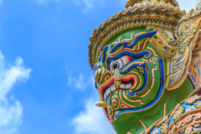 Tempel Emerald Buddhas oder des Wat Phra Kaews, großartiger Palast, Bangkok, Thailand stockbild