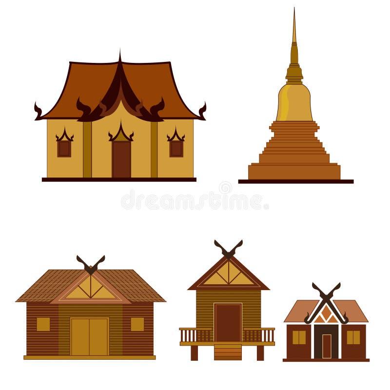 Tempel en Pagode vector illustratie