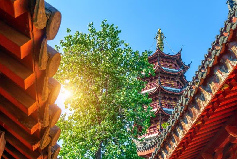Tempel en pagode royalty-vrije stock foto