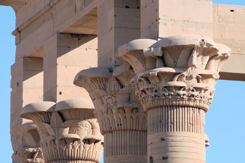 tempel för 6 philae royaltyfri fotografi