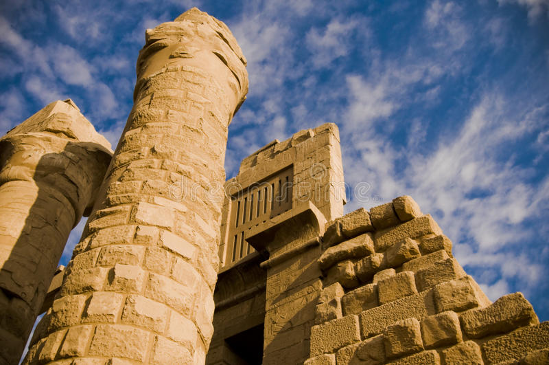 tempel för amunegypt karnak arkivfoton