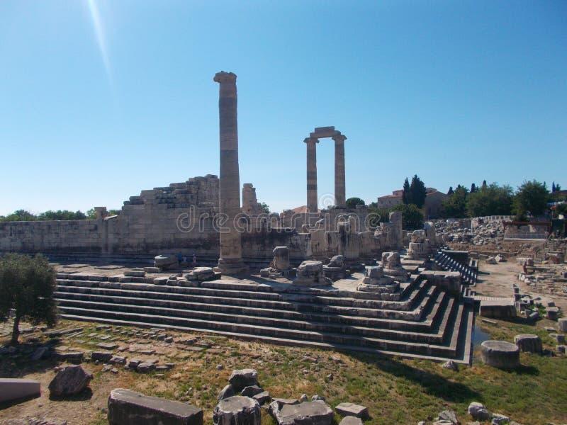 Tempel för Apollo ` s - Didyma arkivbild