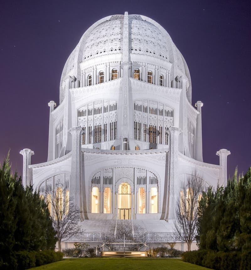 Tempel för Baha ` I, Chicago royaltyfri bild