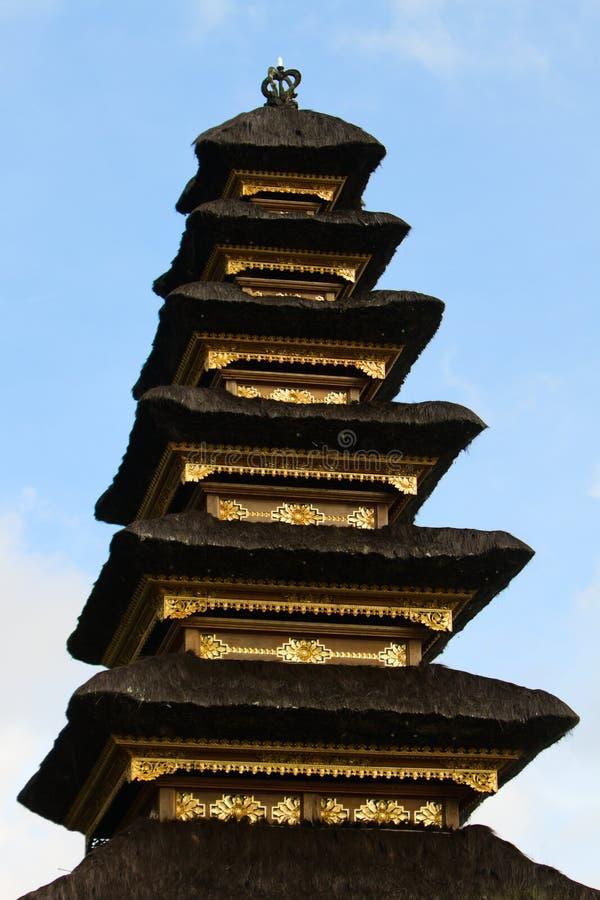 tempel för balinesecloseuptak royaltyfri foto