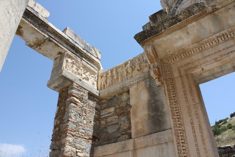 Tempel för Bas lättnad av Hadrian royaltyfri bild
