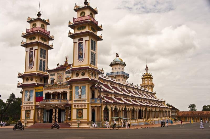 tempel för cao dai fotografering för bildbyråer