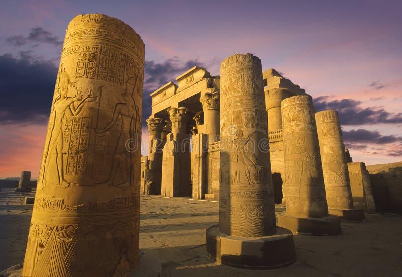 tempel för egypt komombo arkivfoton