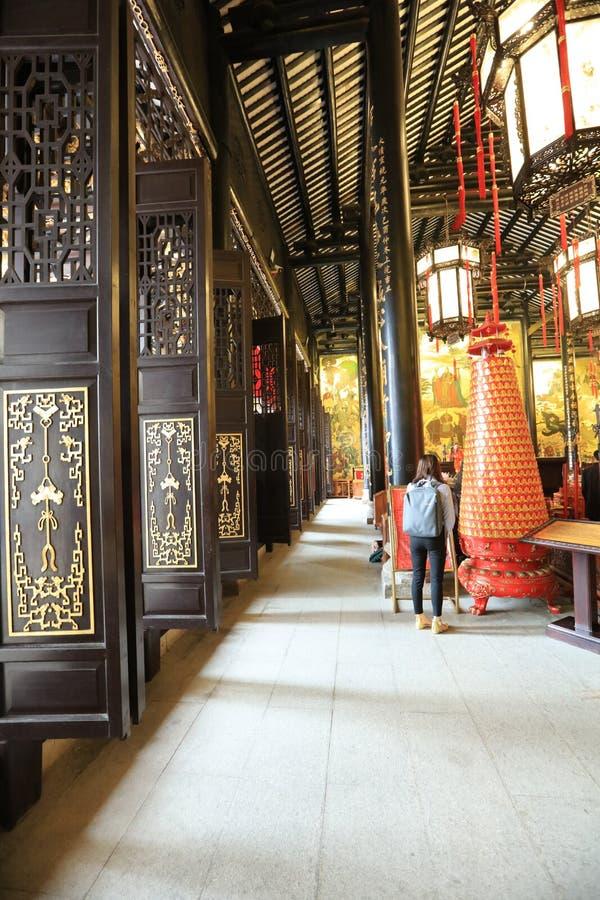 Tempel 9 för Guangzhou stadsgud - Guangzhou en historisk plats - Guangdong - Kina fotografering för bildbyråer