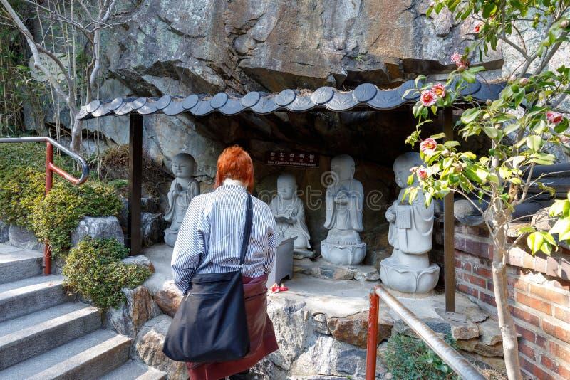 Tempel för Haedong yonggungsasjösida i Busan royaltyfri bild