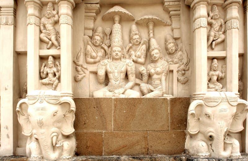 tempel för india kailashanathakanchipuram arkivfoton