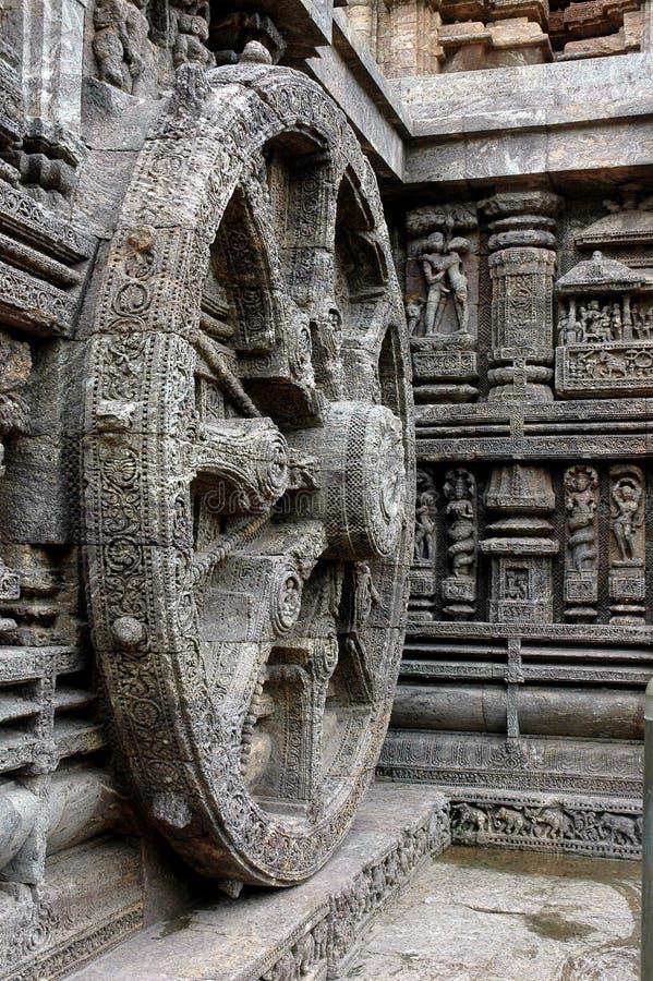 tempel för konarakorrisaskulptur arkivfoton