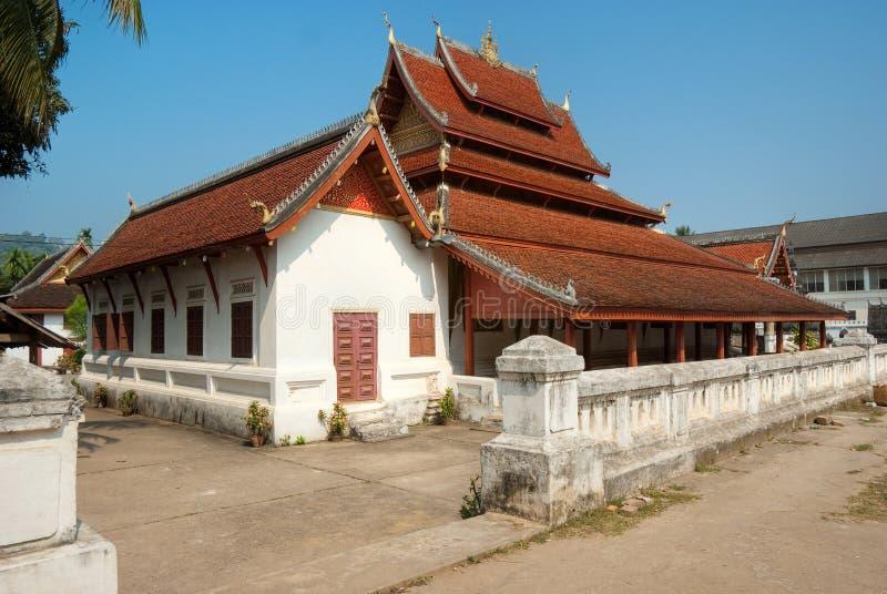 tempel för laos luangprabang arkivbild
