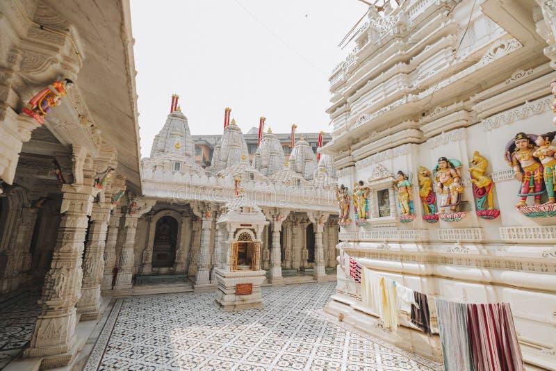 Tempel för Sas Bahu i den Gwalior staden, Indien fotografering för bildbyråer