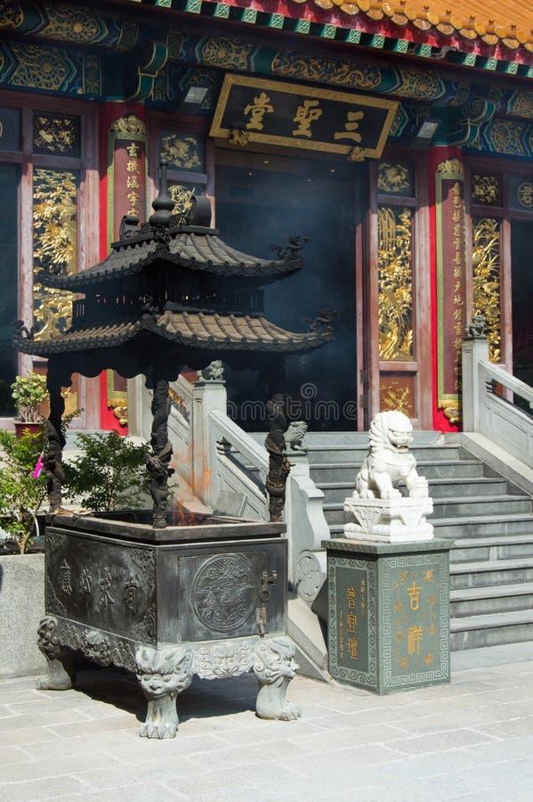 Tempel för Sik sikyuen wong tai synd i Hong Kong arkivfoton