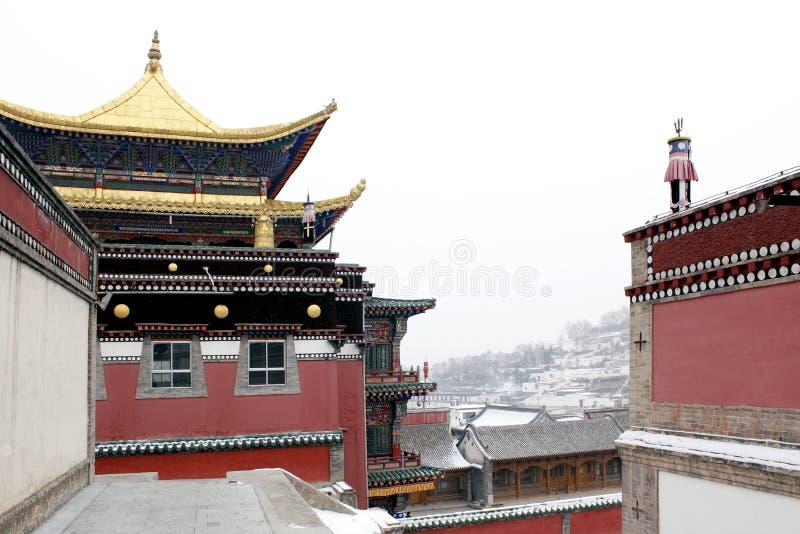 Tempel för tibetan buddism arkivbilder