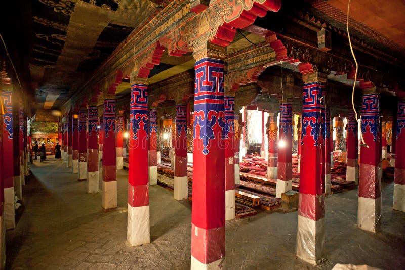Tempel för tibetan buddism arkivfoto