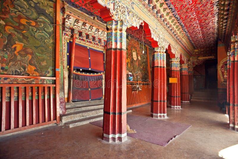 Tempel för tibetan buddism royaltyfria foton