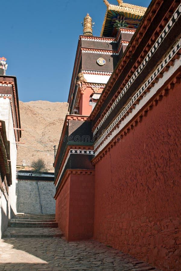 Tempel för tibetan buddism arkivfoton